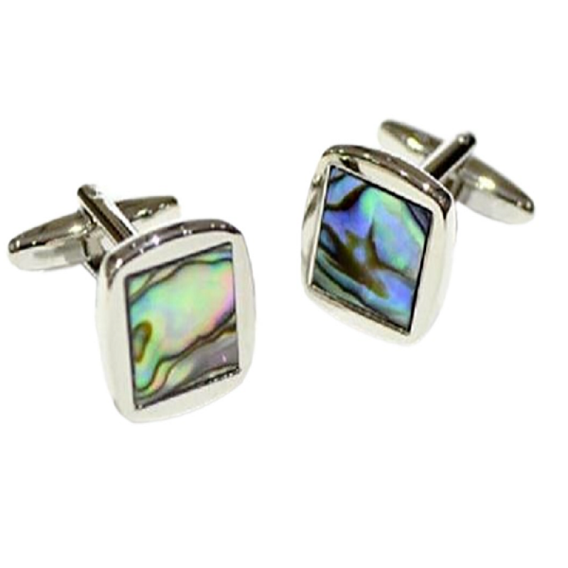 Spoilt Collection Abalone  Square  Shell Classic Cufflinks