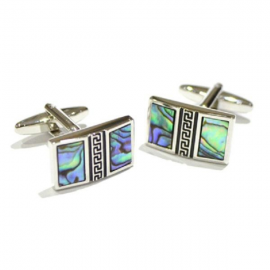 Spoilt Collection Abalone Shell Vertical Split Design Cufflinks