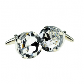 New Spoilt Collection Clear Diamond Crystal Cufflinks