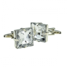New Spoilt Collection Radiant Square Cut Acrylic Crystal Cufflinks