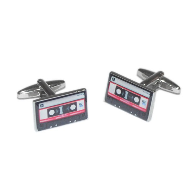 Retro Style Red Tape Cassette Cufflinks