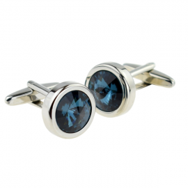 New Spoilt Collection Dark Blue Large Crystal Cufflinks
