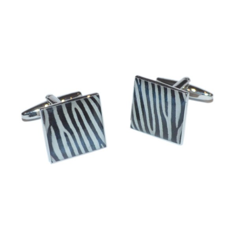 Zebra Pattern Cufflinks