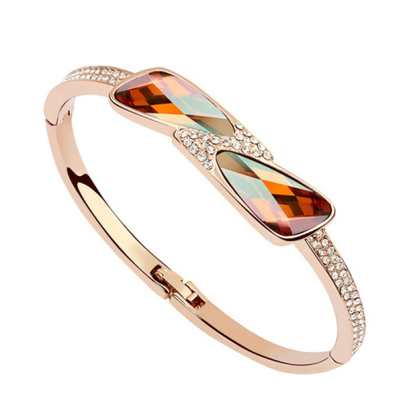 The Moon Lake Smoked Topaz Rose Gold Eye-Catching Bangle