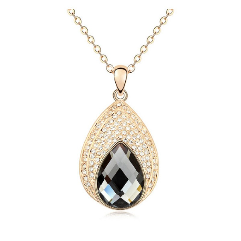 Gold Plated Sea Miss Necklaces Black Diamond