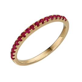 Yellow Gold Ruby Band Ring