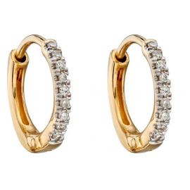 New Spring Collection Diamond Huggie Earrings