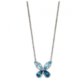 Blue Topaz Butterfly Necklace
