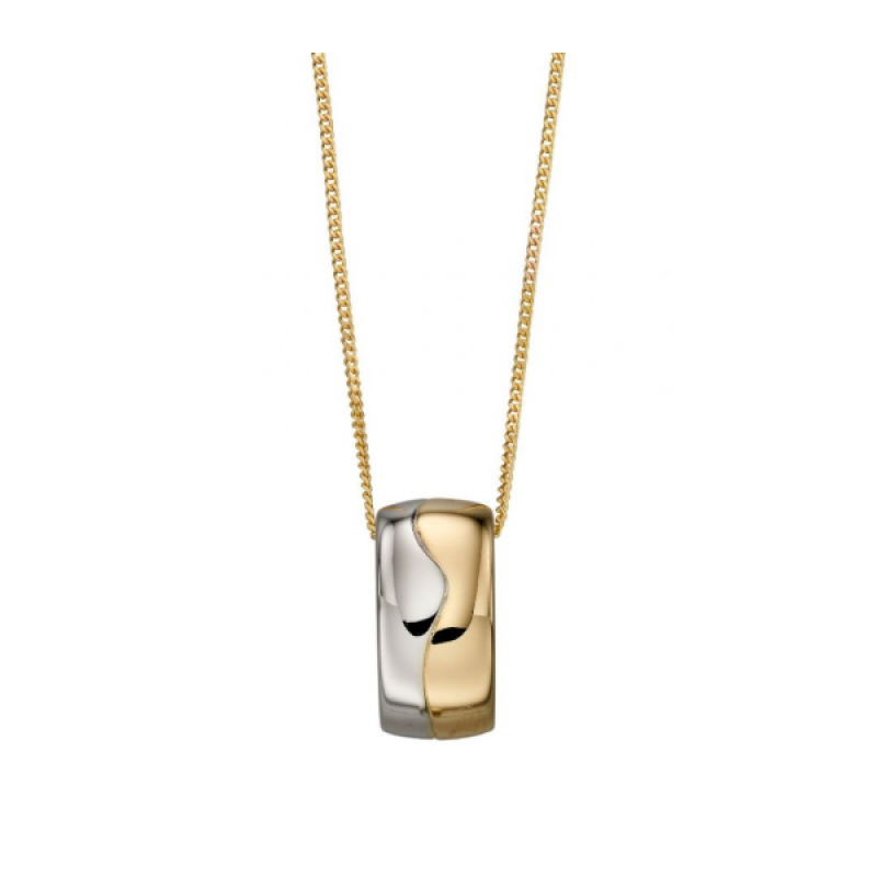 MULTI GOLD BARREL PENDENT/CHAIN