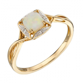 New Collection Opal And Diamond Ring
