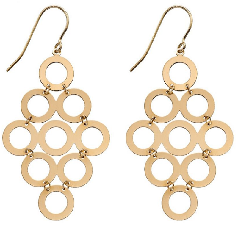 New Collection Multi Circle Drop Earrings