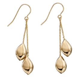 New Collection Multi Pebble Gold Drop Earrings