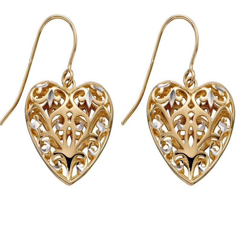 New Collection Filigree Heart Earrings