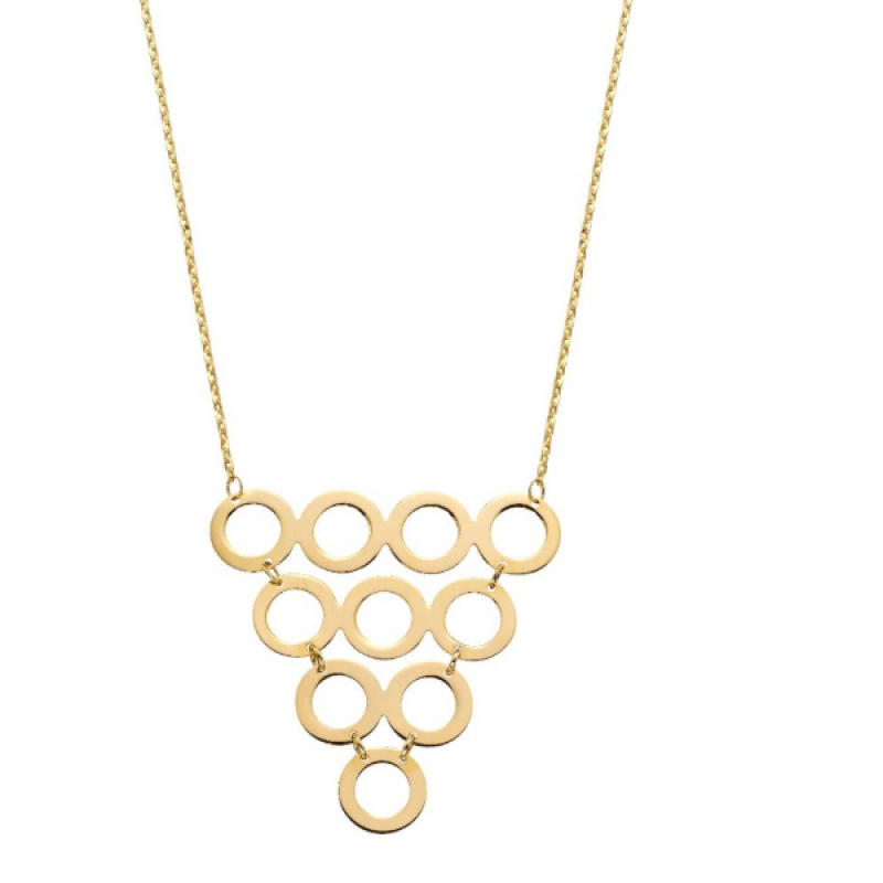 New Collection Multi Circle Necklace