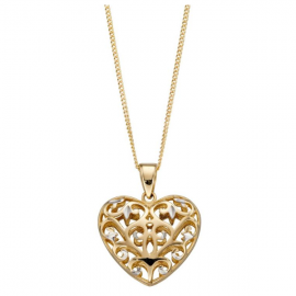 New Collection Filigree Heart Pendant/Chain