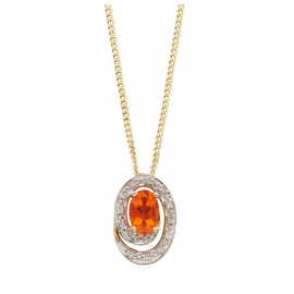 New Collection Alluring Fire Opal Pendant