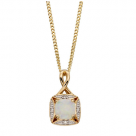 New Collection Opal And Diamond Pendant Chain