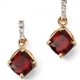 SPOILT COLLECTION GARNET AND DIAMOND EARRINGS