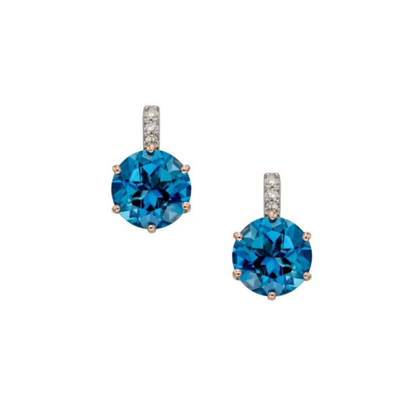NEW COLLECTION BLUE TOPAZ EARRINGS