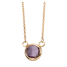 AMETHYST YELLOW GOLD NECKLACE