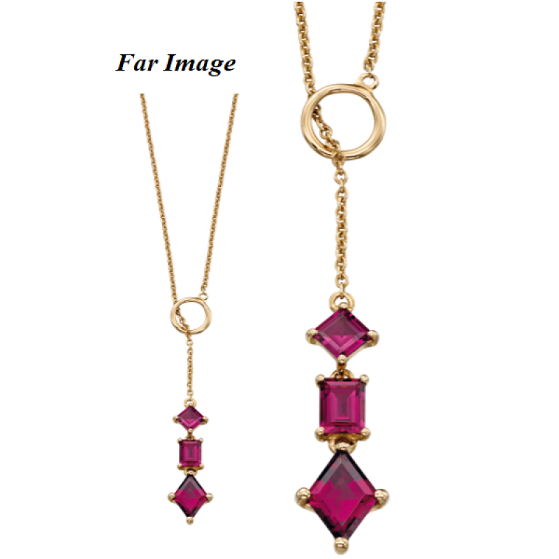 LBT/GARNET Y-shape necklace
