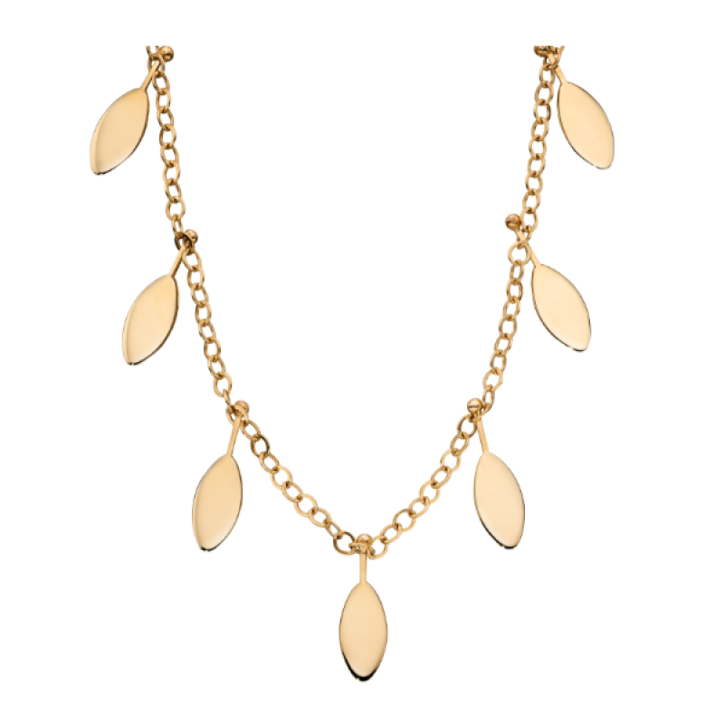 GOLD LEAVE NECKLACE