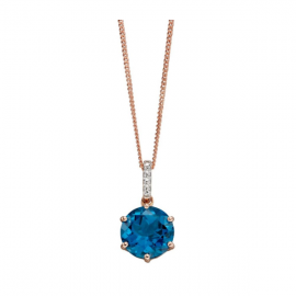 New Collection Blue Topaz with Pave Diamond's