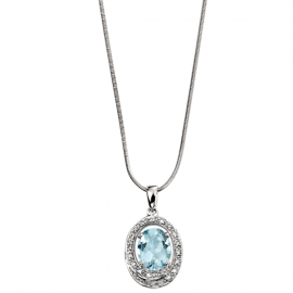 DIAMOND AQUAMARINE NECKLACE