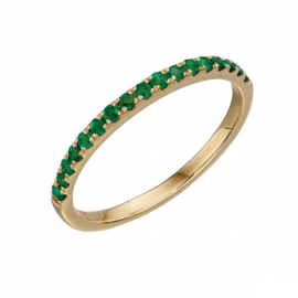New Spoilt Collection Emerald Band Ring