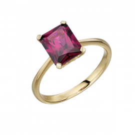 New Spoilt Collection Garnet Rhodolite Cut Ring