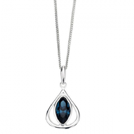 New Spoilt Collection SILVER MONTANA SWAROVSKI CRYSTAL TEARDROP PENDANT