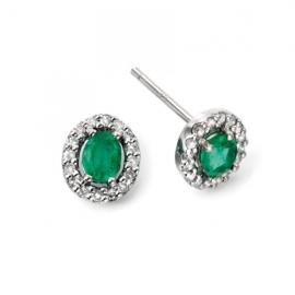 White Gold Precious Emerald and Diamond