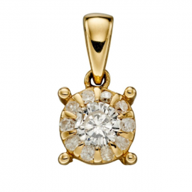 GOLD APRIL DIAMOND BIRTHSTONE
