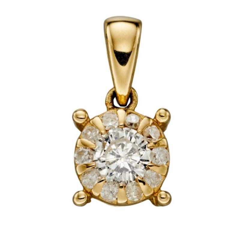 GOLD APRIL DIAMOND BIRTHSTONE