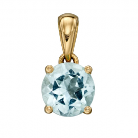 GOLD MARCH AQUAMARINE BIRTHSTONE