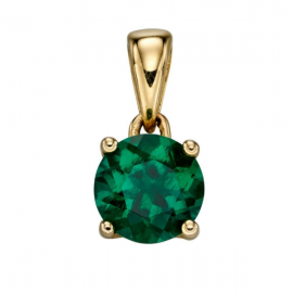 GOLD MAY EMERALD BIRTHSTONE