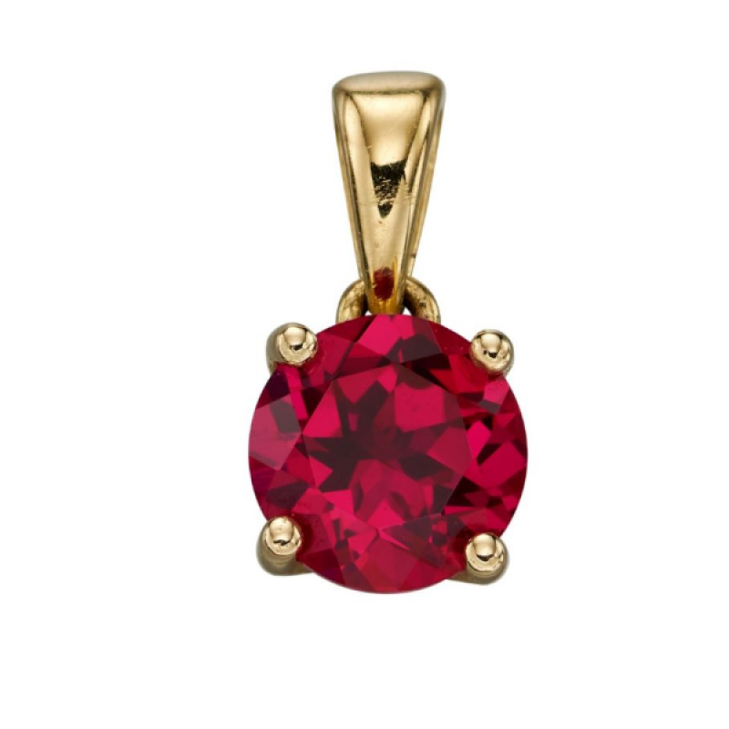 JULY RUBY BIRTHSTONE PENDANT
