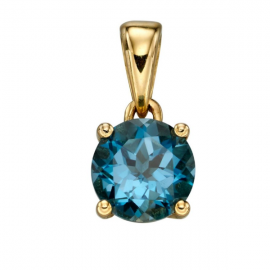 DEC BIRTHSTONE BLUE TOPAZ PENDANT