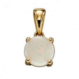 OCT BIRTHSTONE OPAL PENDANT