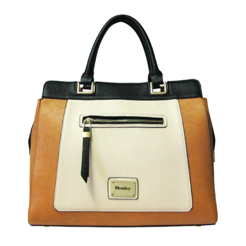 Henley Darcy Bag - Cream / Tan / Black Henley Bag