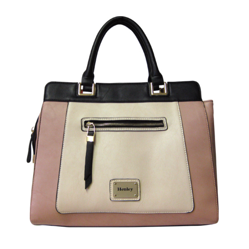 Henley Darcy Bag - Cream/Pink/Black