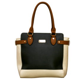 Henley Evie Bag - Black/Cream/Brown