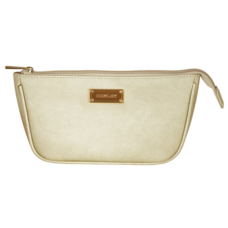 Henley Ladies Veronica Cosmetic Bag - Gold