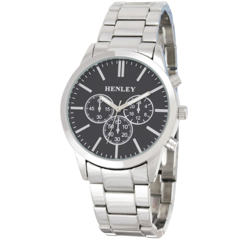 Henley Gents Sports Bracelet Watch Silver / Black