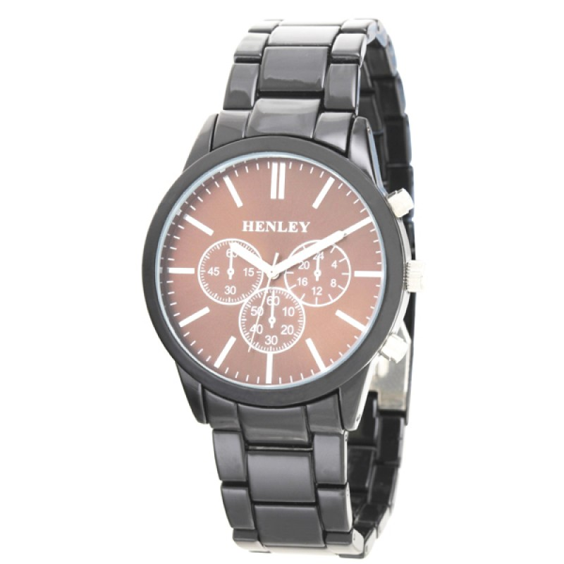 Henley Gents Sports Bracelet Watch Black / Brown