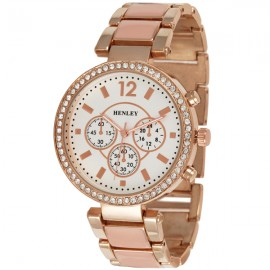 Henley Ladies Enamel Fashion Watch Nude