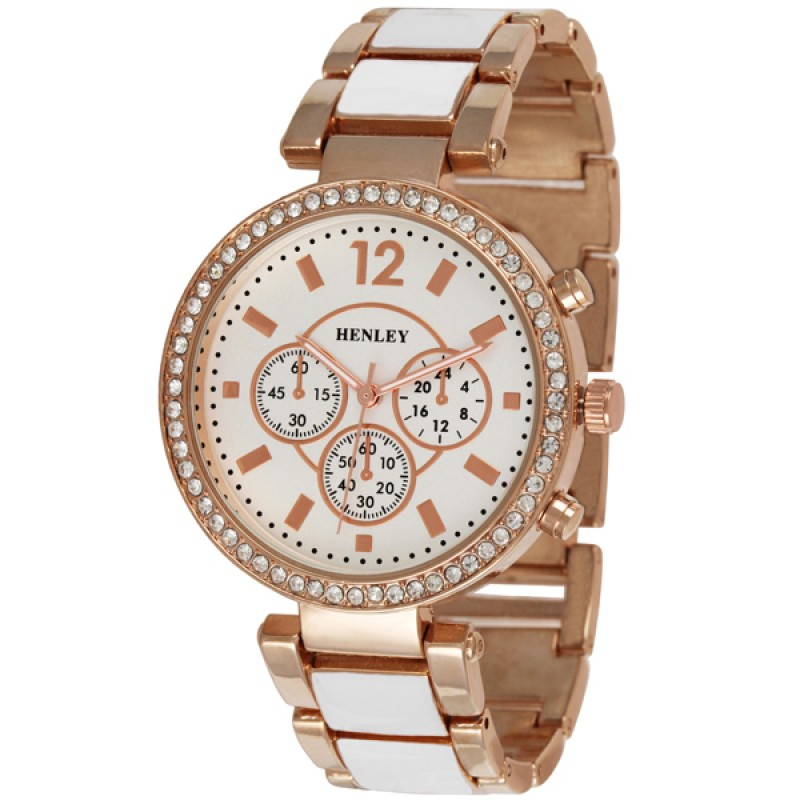 Henley Ladies Enamel Fashion Watch White