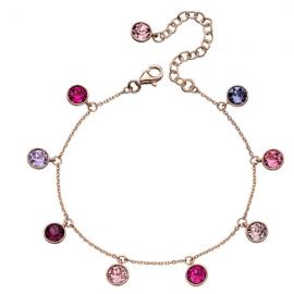 Spring Collection: Rose Gold Swarovski Crystal Charm Bracelet