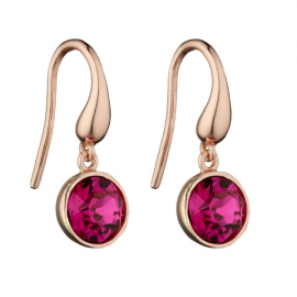 Spring Collection Rose Gold Swarovski Crystal Charm Earring