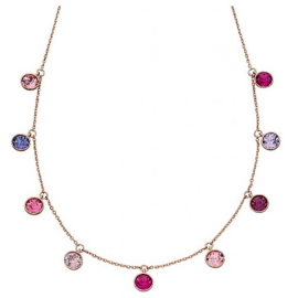 Spring Collection Rose Gold Swarovski Crystal Charm Necklace